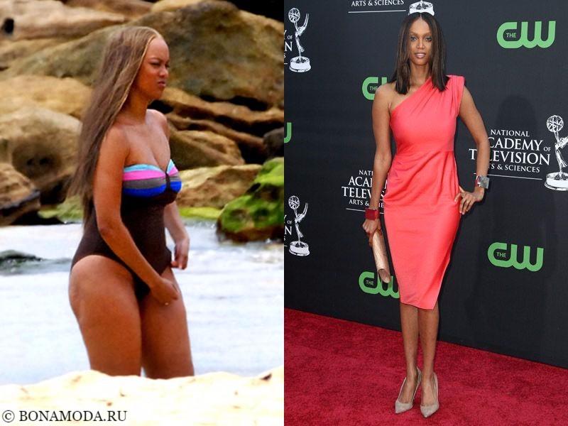 Истории похудения звёзд – фото до и после - Тайра Бэнкс - похудела на 15 кг
