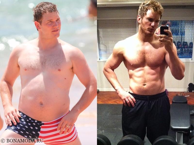 Истории похудения звёзд – фото до и после - Крис Пратт - похудел на 30 кг