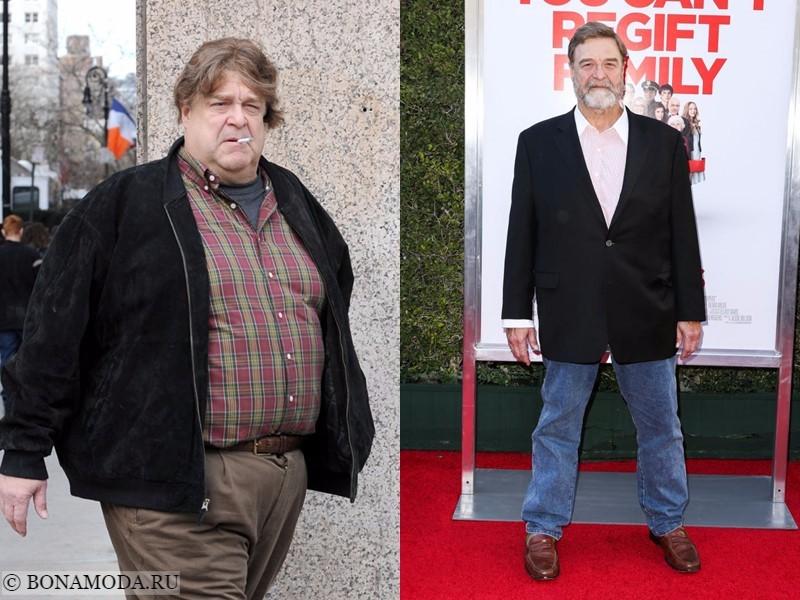 Истории похудения звёзд – фото до и после - Джон Гудман - похудел на 50 кг