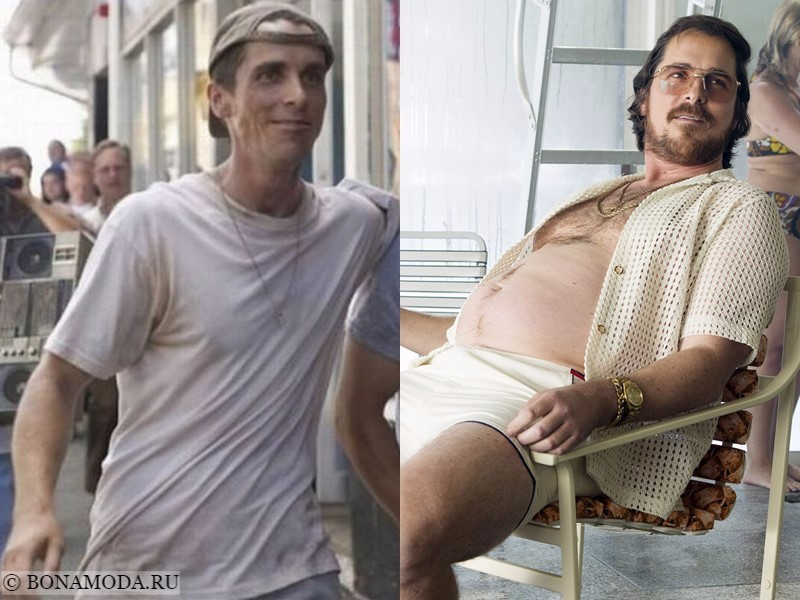 Истории похудения звёзд – фото до и после - Кристиан Бэйл - набор 30 кг