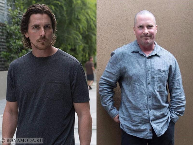 Истории похудения звёзд – фото до и после - Кристиан Бэйл - набор веса 2017
