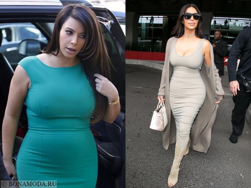 Истории похудения звёзд – фото до и после - Ким Кардашьян - похудела на 30 кг