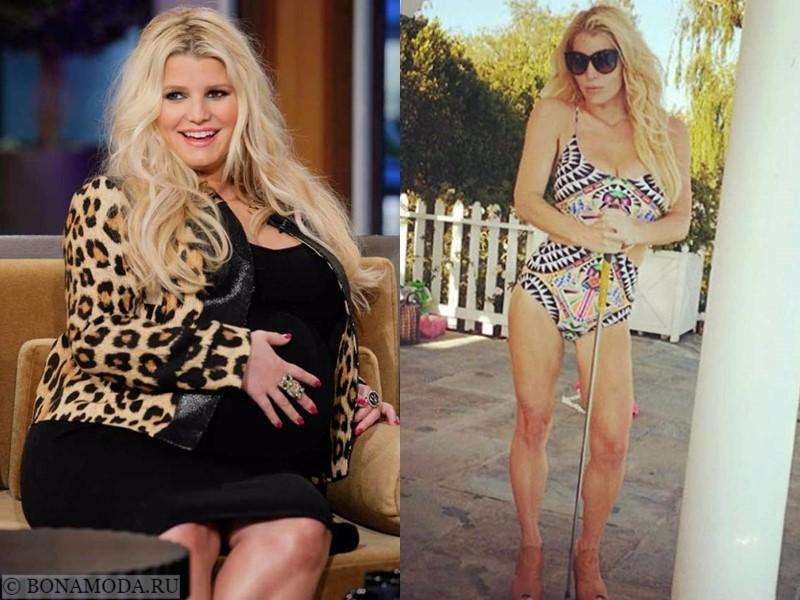 Истории похудения звёзд – фото до и после - Джессика Симпсон - похудела на 30 кг