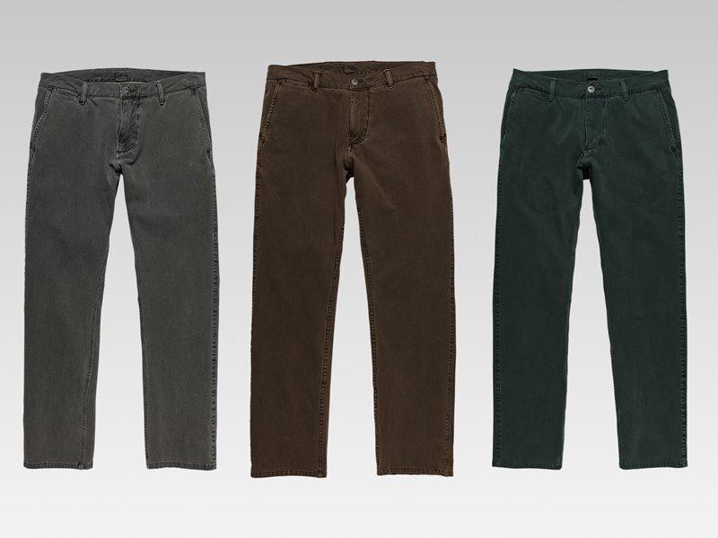 Коллекция мужской одежды Dockers осень-зима 2017-2018 - джинсы серые, коричневые и зеленые