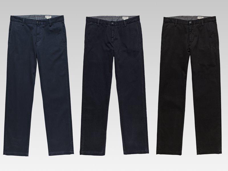 Коллекция мужской одежды Dockers осень-зима 2017-2018 - брюки тёмно-синие и чёрные