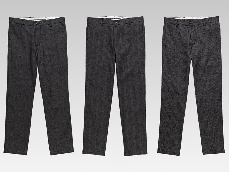Коллекция мужской одежды Dockers осень-зима 2017-2018 - брюки и джинсы серые классические