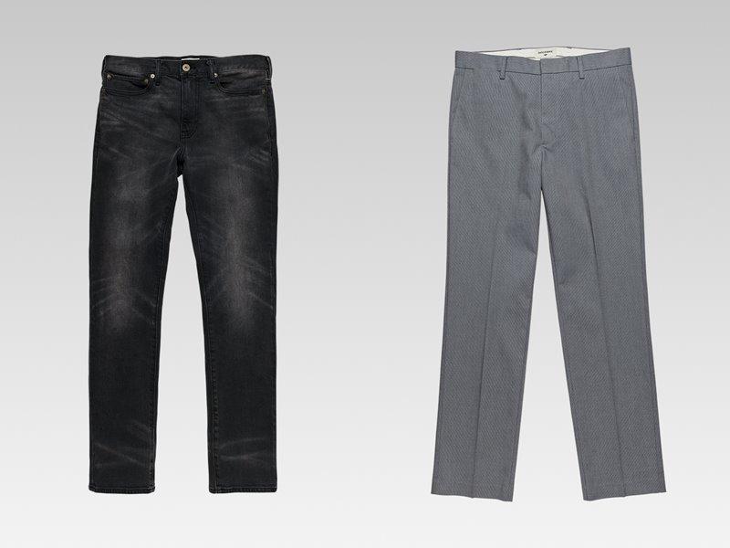 Коллекция мужской одежды Dockers осень-зима 2017-2018 - серые потертые джинсы и классические брюки