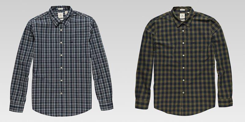 Коллекция мужской одежды Dockers осень-зима 2017-2018 - рубашки в мелкую клетку