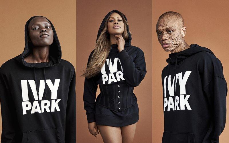 Лукбук коллекции Ivy Park осень-зима 2017-2018 - черные толстовки с капюшоном