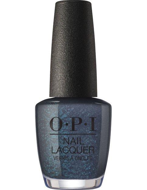 Коллекция гель-лаков для ногтей OPI Holiday 2017 - тёмный серо-синий с глиттером