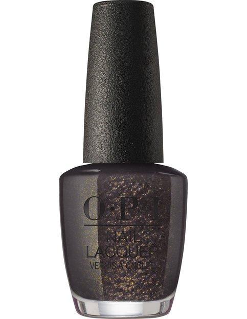 Коллекция гель-лаков для ногтей OPI Holiday 2017 - золотисто-коричневый с глиттером