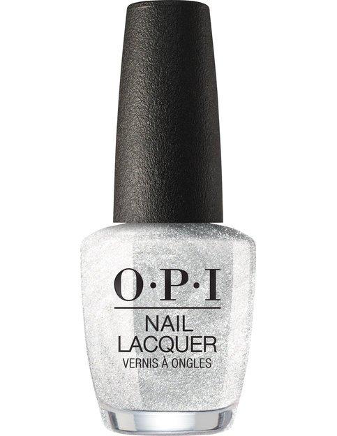 Коллекция гель-лаков для ногтей OPI Holiday 2017 - жемчужный серебристый с глиттером