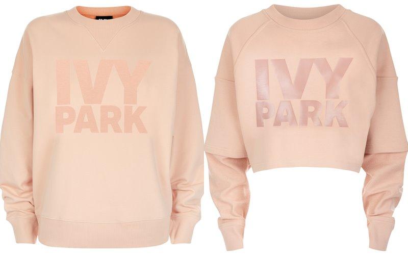 Коллекция Ivy Park осень-зима 2017-2018 - персиковые свитшоты