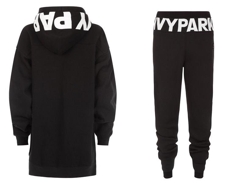 Коллекция Ivy Park осень-зима 2017-2018 -  черная спортивная куртка с капюшоном и штаны