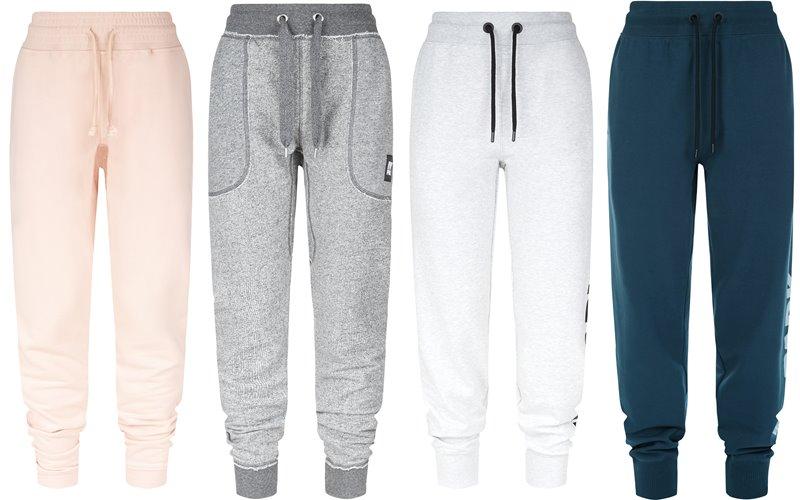 Коллекция Ivy Park осень-зима 2017-2018 -  спортивные штаны - персиковые, серые, белые, бирюзовые