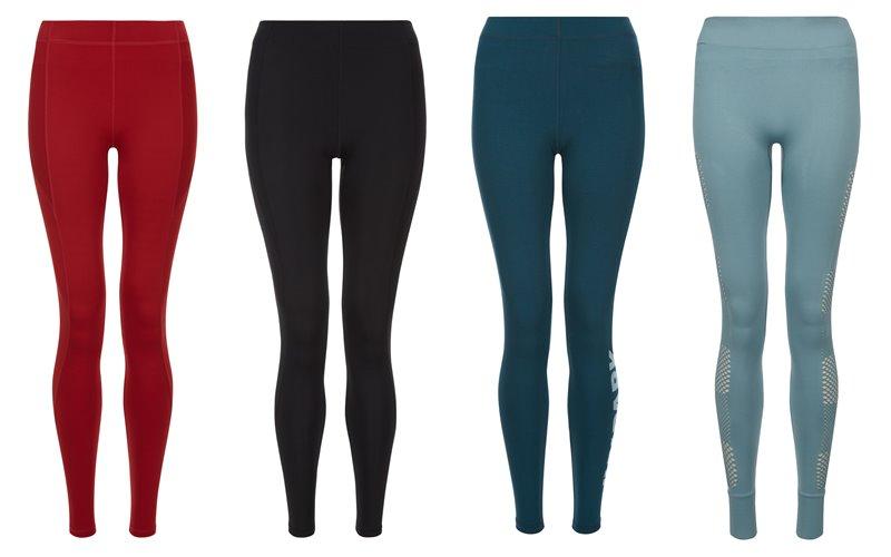 Коллекция Ivy Park осень-зима 2017-2018 -  спортивные леггинсы - красные, черные, бирюзовые