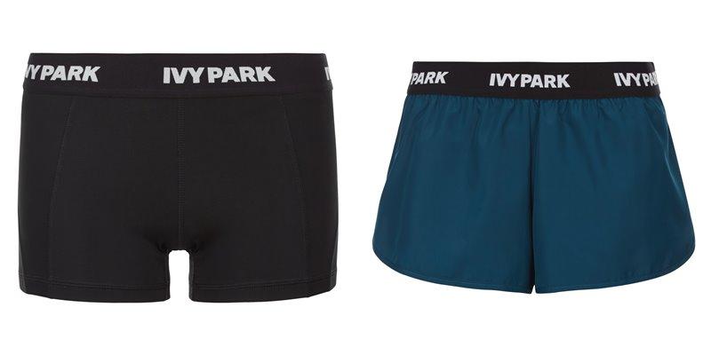 Коллекция Ivy Park осень-зима 2017-2018 -  черные и бирюзовые шорты