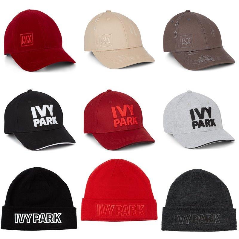 Коллекция Ivy Park осень-зима 2017-2018 -  спортивные кепки и трикотажные шапки