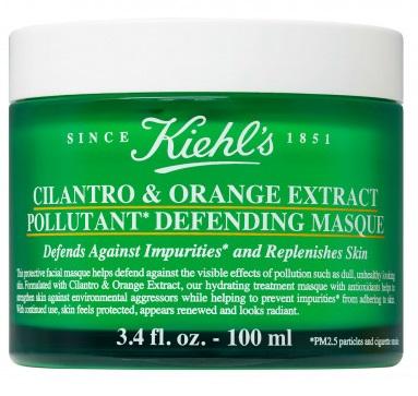 Ночная маска для защиты от агрессивных факторов окружающей среды Kiehl's Cilantro & orange extract pollutant defending masque