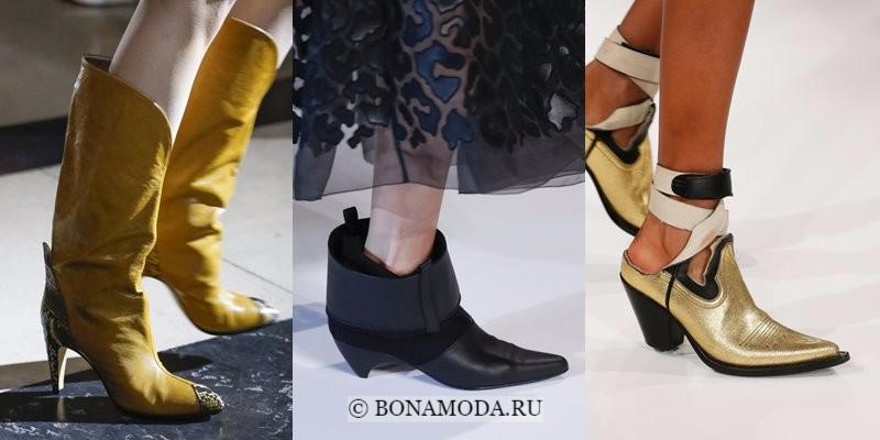 Модная женская обувь весна-лето 2018 - сапоги и ботильоны-казаки