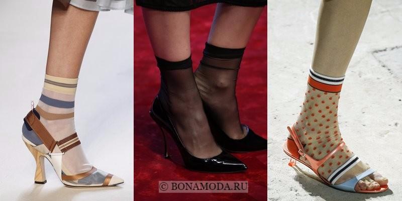 Модная женская обувь весна-лето 2018 - туфли с носочками