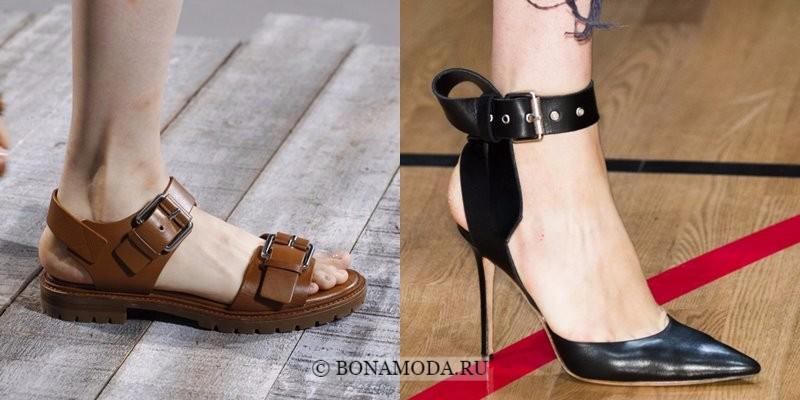Модная женская обувь весна-лето 2018 - туфли с массивными ремешками
