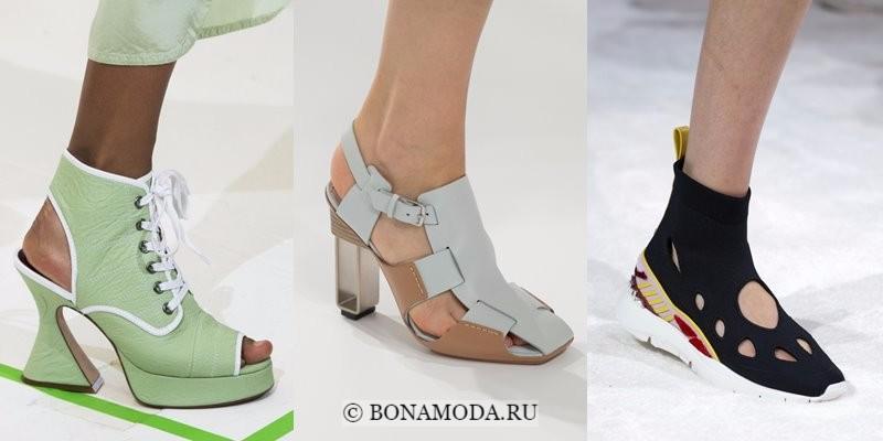 Модная женская обувь весна-лето 2018 - туфли и ботильоны с вырезами