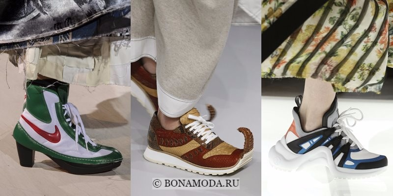 Модная женская обувь весна-лето 2018 - яркие оригинальные кроссовки