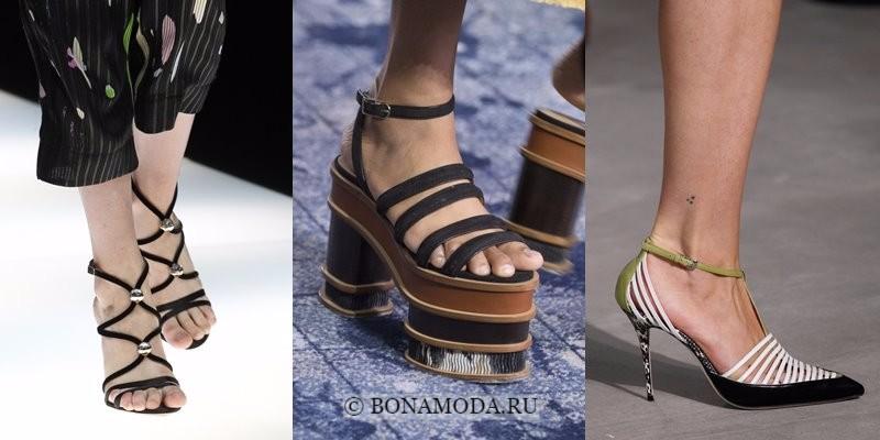 Модная женская обувь весна-лето 2018 - тонкие ремешки