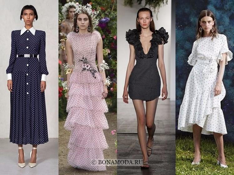 Модные платья весна-лето 2018: тенденции - повседневные и вечерние в мелкий горошек