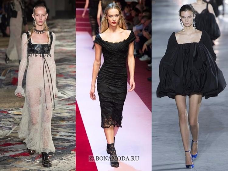 Модные платья весна-лето 2018: тенденции - широкий вырез и открытое декольте