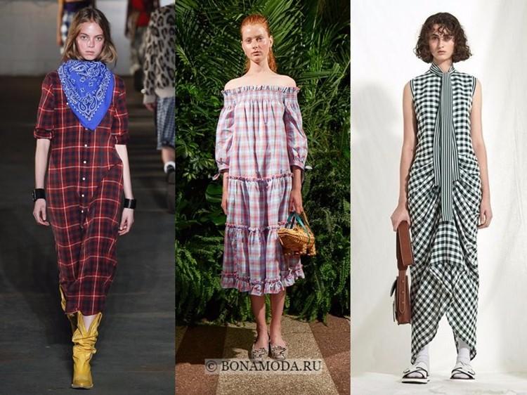 Модные платья весна-лето 2018: тенденции - повседневные клетчатые