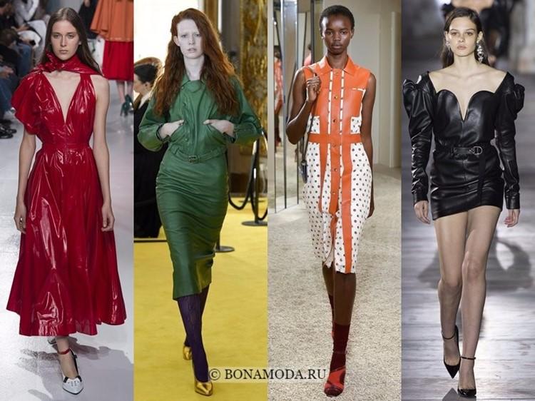 Модные платья весна-лето 2018: тенденции - искусственная цветная кожа