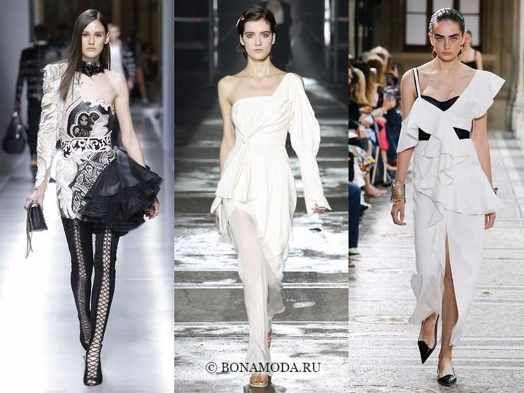 Модные платья весна-лето 2018: тенденции - асимметричный крой и объёмный декор