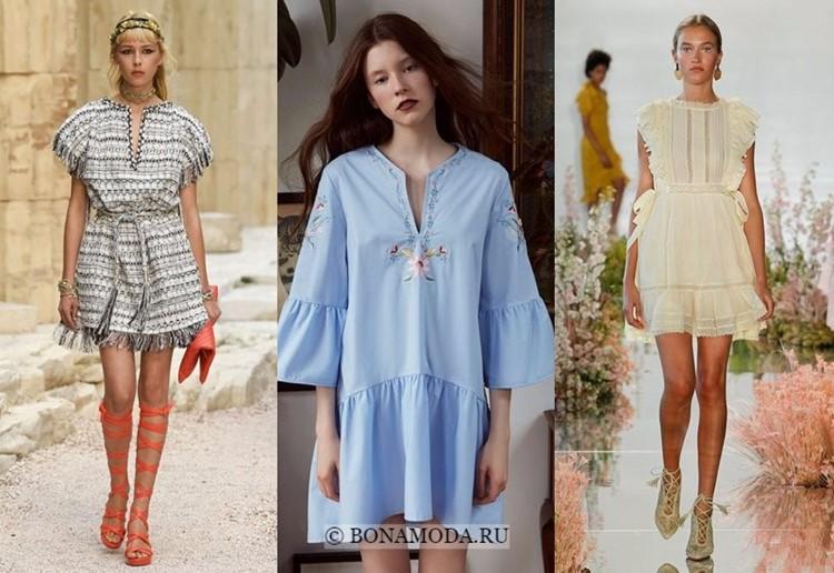Модные платья весна-лето 2018: тенденции - короткие этнические туники