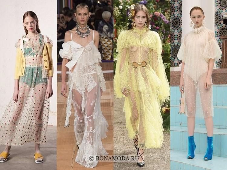 Модные платья весна-лето 2018: тенденции - длинные прозрачные шифоновые