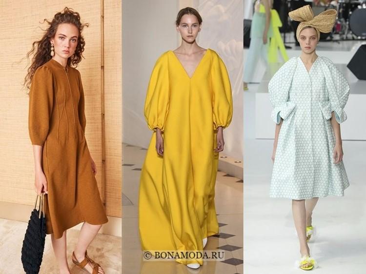 Модные платья весна-лето 2018: тенденции - объёмные пышные рукава
