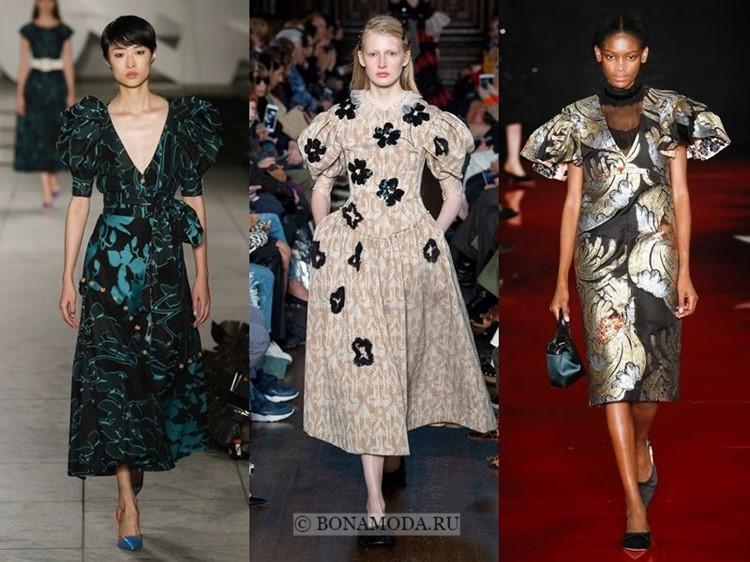 Модные платья весна-лето 2018: тенденции - короткие рукава-фонарики