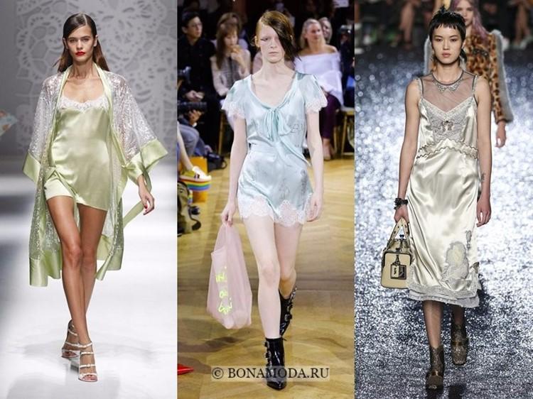 Модные платья весна-лето 2018: тенденции - шелковые сорочки