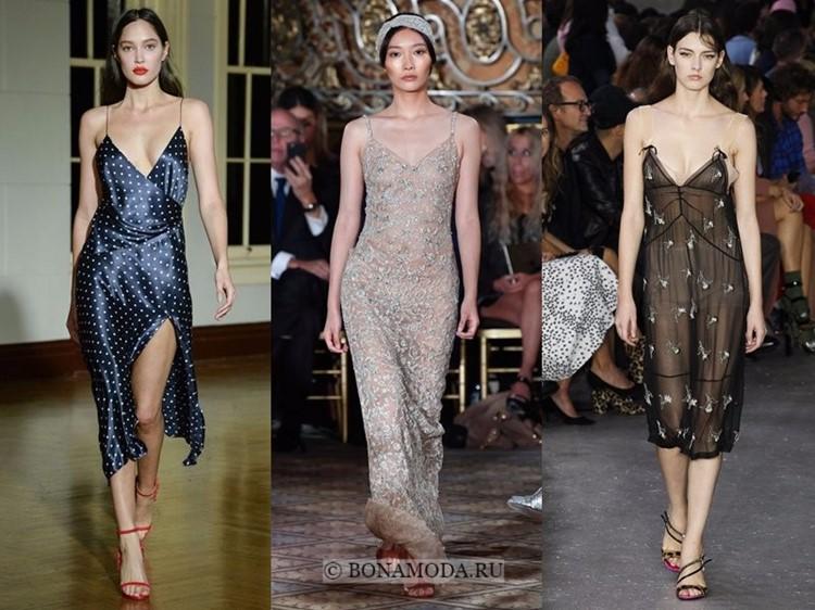 Модные платья весна-лето 2018: тенденции - тонкие прозрачные и модели с запахом в стиле сорочки