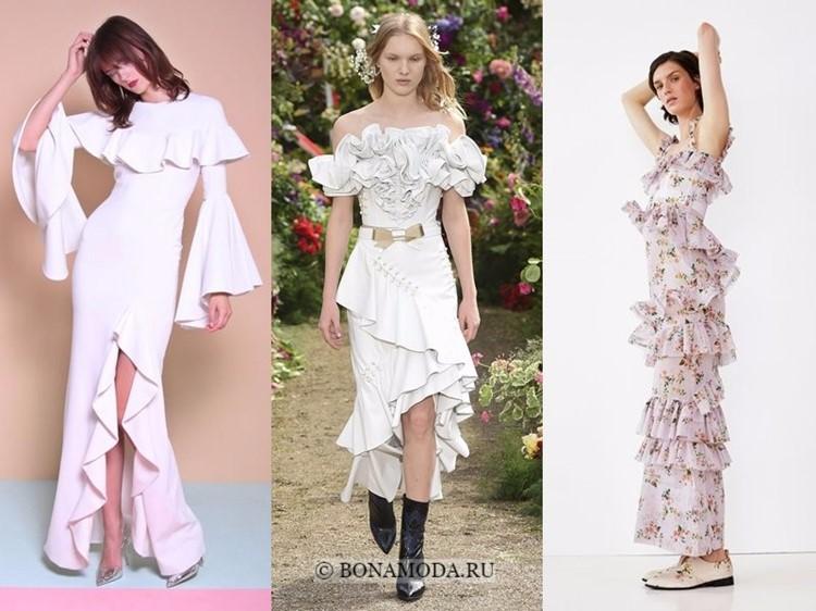 Модные платья весна-лето 2018: тенденции - пышные объёмные воланы