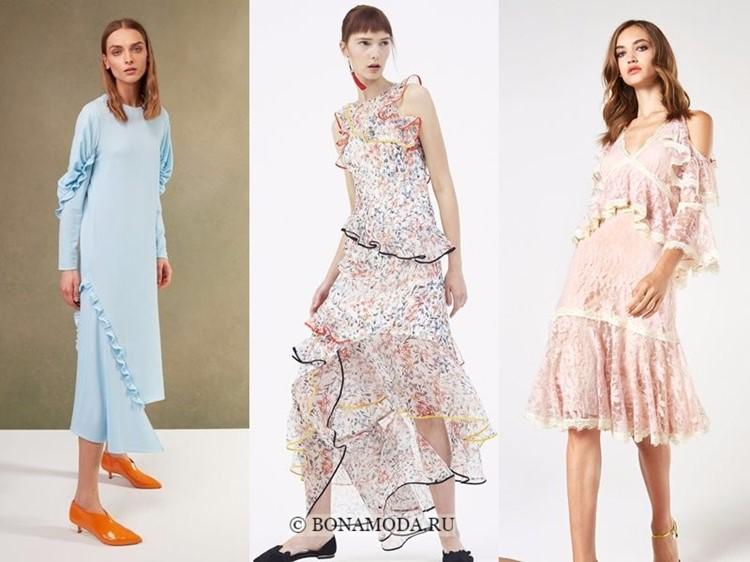 Модные платья весна-лето 2018: тенденции - стильные кокетливые оборки