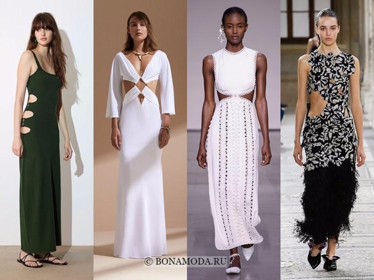 Модные платья весна-лето 2018: тенденции - вырезы на талии