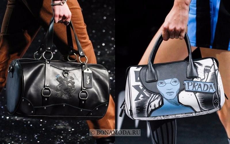 Модные женские сумки весна-лето 2018 - объёмные даффл