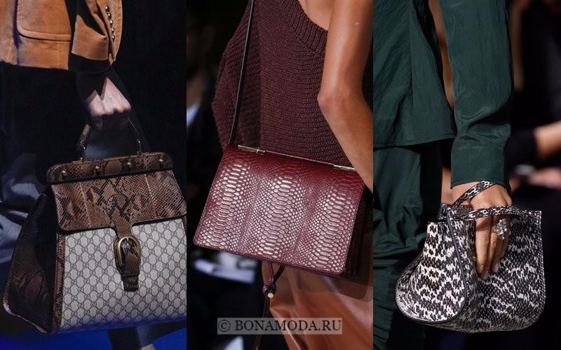 Модные женские сумки весна-лето 2018 - принт питон