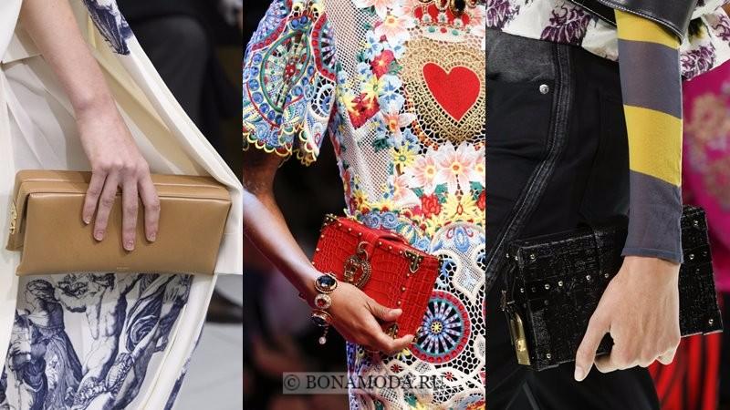 Модные женские сумки весна-лето 2018 - жесткие клатчи-коробки