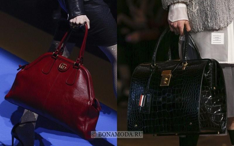Модные женские сумки весна-лето 2018 - жёсткие кожаные doctor bag