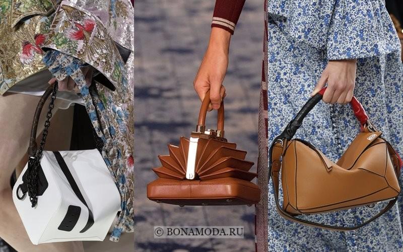 Модные женские сумки весна-лето 2018 - необычные формы и дизайн