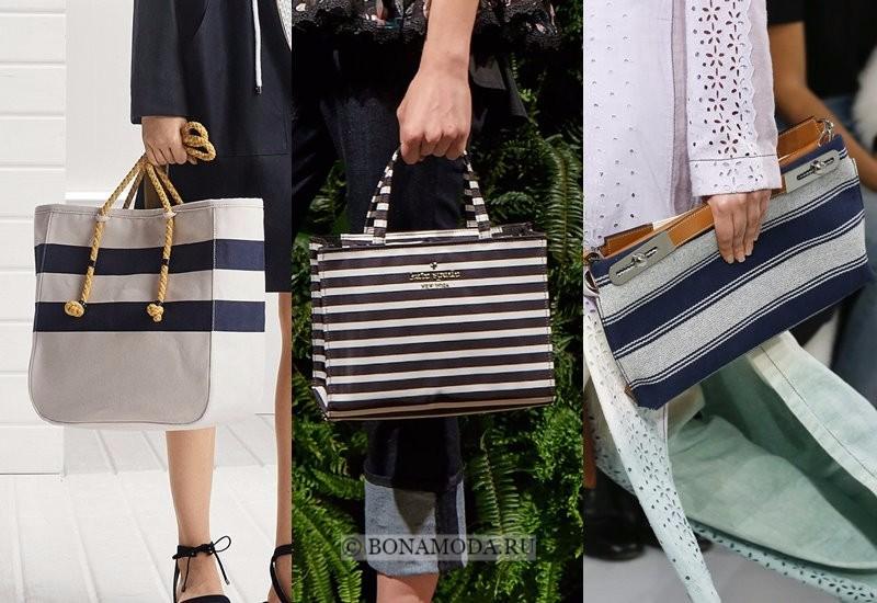 Модные женские сумки весна-лето 2018 - горизонтальная полоска