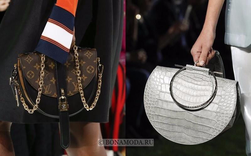 Модные женские сумки весна-лето 2018 - крупные сумки-седло